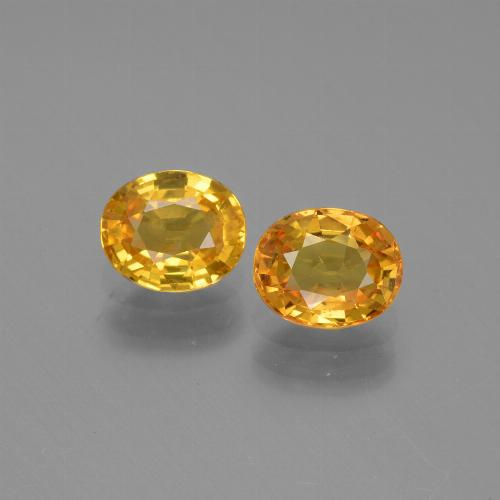 Golden Yellow Sapphire Gem - 0.8ct Oval Facet (ID: 444680)