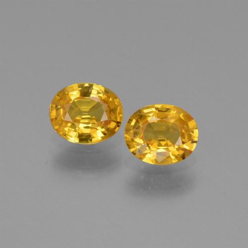 thumb image of 1.4ct Oval Facet Golden Yellow Sapphire (ID: 444682)