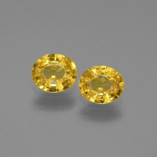 thumb image of 0.6ct Oval Facet Golden Yellow Sapphire (ID: 444688)