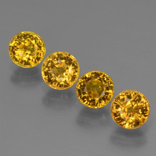 Golden Yellow Sapphire Gem - 0.7ct Round Facet (ID: 444703)