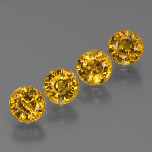 Golden Yellow Sapphire Gem - 0.6ct Round Facet (ID: 444704)