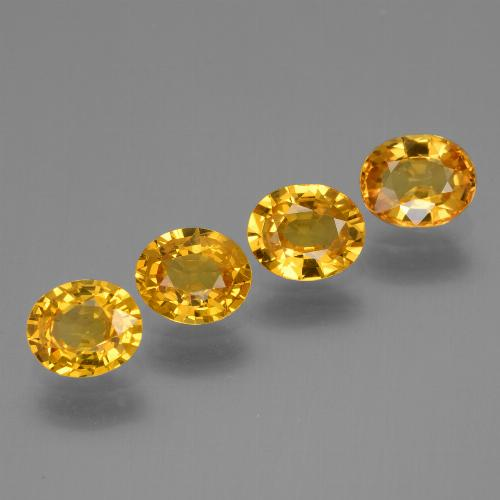 Golden Yellow Sapphire Gem - 0.7ct Oval Facet (ID: 444788)