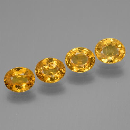 Golden Yellow Sapphire Gem - 0.7ct Oval Facet (ID: 444790)