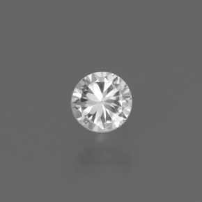 White Sapphire Gem - 0.4ct Diamond-Cut (ID: 444802)