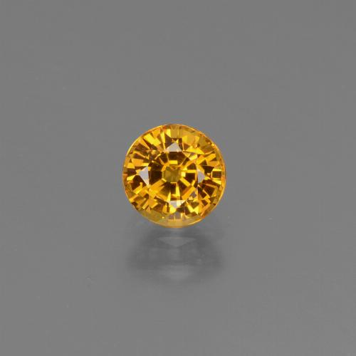 Golden Yellow Sapphire Gem - 0.7ct Round Facet (ID: 444837)