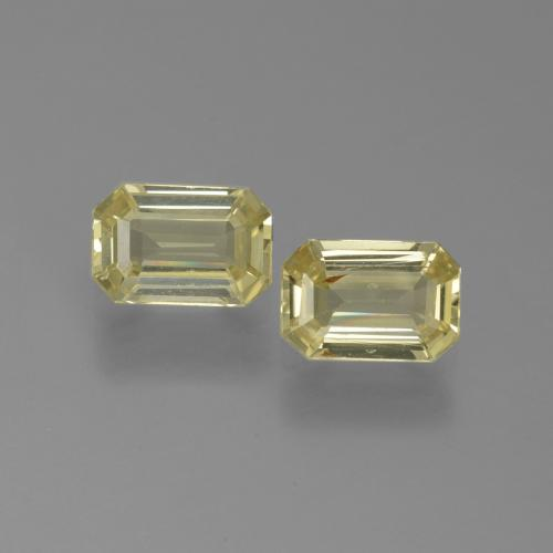 Yellow Sapphire Gem - 0.6ct Octagon Facet (ID: 444884)
