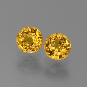 Yellow Golden Sapphire Gem - 0.7ct Round Facet (ID: 444905)