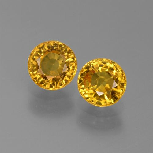 0.7ct Round Facet Medium Golden Sapphire Gem (ID: 444907)
