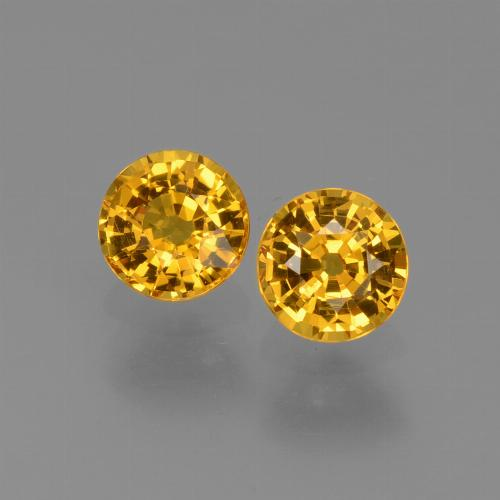 0.6ct Round Facet Medium Golden Sapphire Gem (ID: 444909)