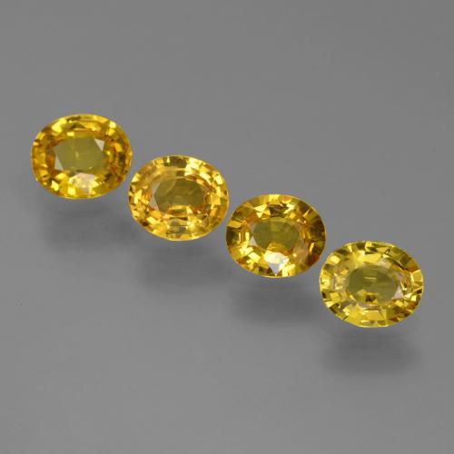 Yellow Golden Sapphire Gem - 0.8ct Oval Facet (ID: 444912)