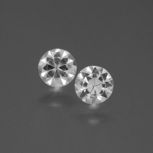 White Sapphire Gem - 0.4ct Diamond-Cut (ID: 445056)