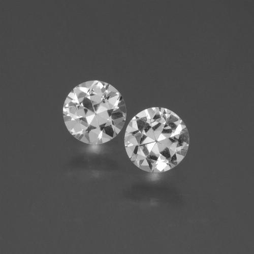 White Sapphire Gem - 0.4ct Diamond-Cut (ID: 445064)