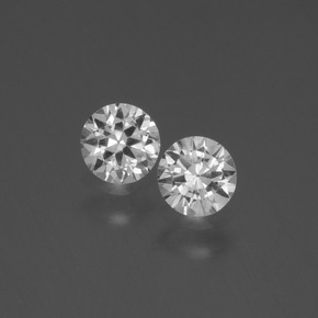 White Sapphire Gem - 0.4ct Diamond-Cut (ID: 445108)
