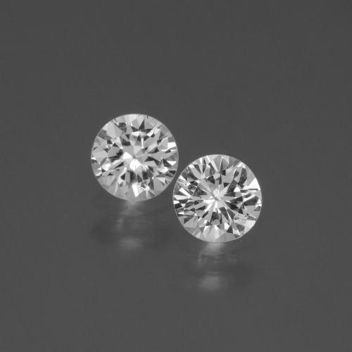 White Sapphire Gem - 0.4ct Diamond-Cut (ID: 445113)