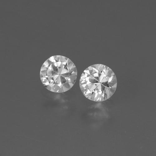 Clear White Zafiro Gema - 0.4ct Corte Diamante (ID: 445155)