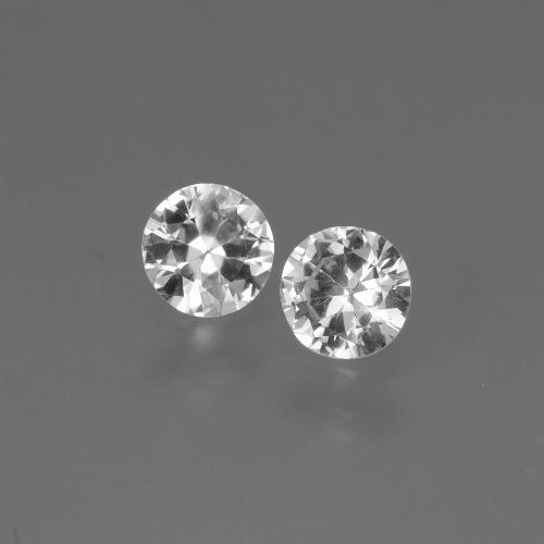 White Sapphire Gem - 0.4ct Diamond-Cut (ID: 445157)