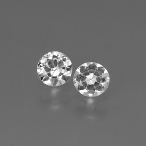 White Sapphire Gem - 0.4ct Diamond-Cut (ID: 445159)
