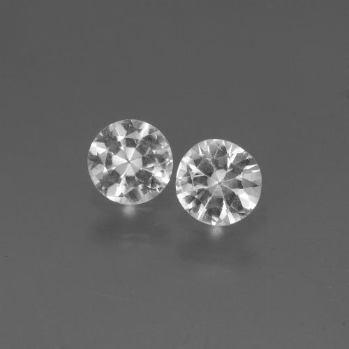 White Sapphire Gem - 0.4ct Diamond-Cut (ID: 445163)