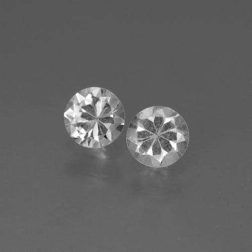 White Sapphire Gem - 0.4ct Diamond-Cut (ID: 445164)