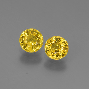 Yellow Golden Sapphire Gem - 0.6ct Round Facet (ID: 445181)
