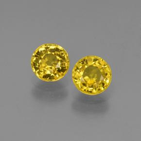 Honey Yellow Sapphire Gem - 0.7ct Round Facet (ID: 445189)