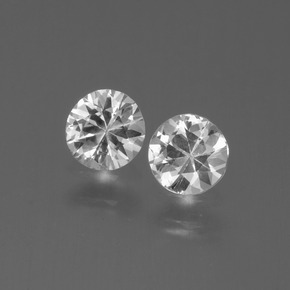White Sapphire Gem - 0.4ct Diamond-Cut (ID: 445229)