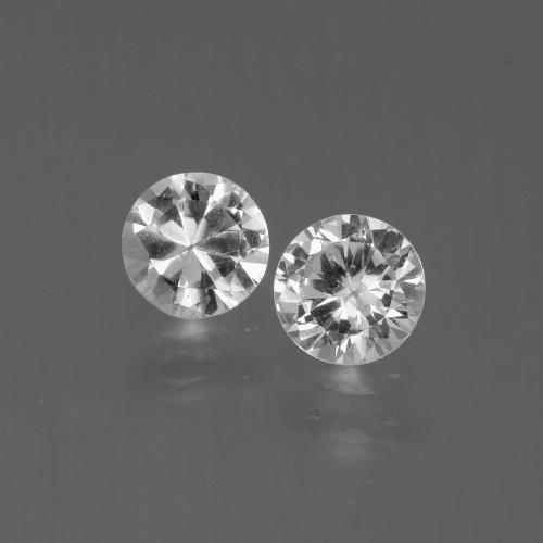 White Sapphire Gem - 0.4ct Diamond-Cut (ID: 445234)