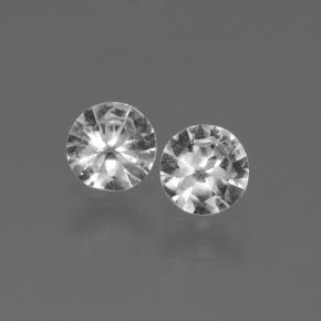 White Sapphire Gem - 0.4ct Diamond-Cut (ID: 445242)