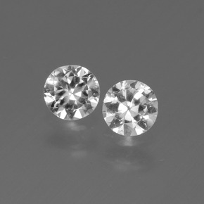 White Sapphire Gem - 0.4ct Diamond-Cut (ID: 445244)