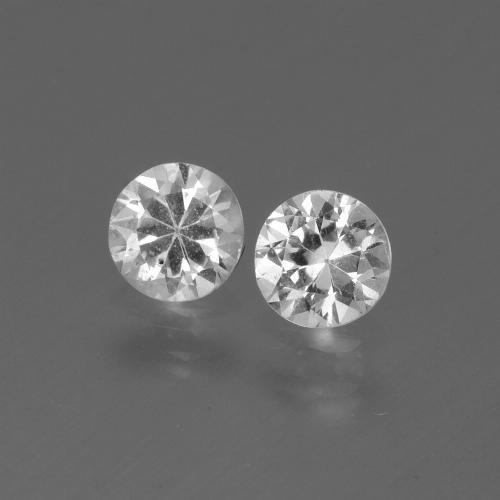 White Sapphire Gem - 0.4ct Diamond-Cut (ID: 445245)