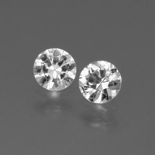 White Sapphire Gem - 0.4ct Diamond-Cut (ID: 445247)