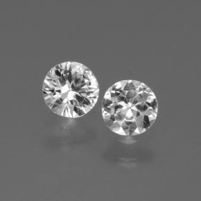 Clear White Sapphire Gem - 0.4ct Diamond-Cut (ID: 445249)
