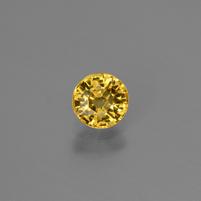 Golden Yellow Sapphire Gem - 0.7ct Round Facet (ID: 445311)