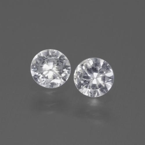 White Sapphire Gem - 0.4ct Diamond-Cut (ID: 445335)