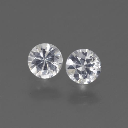White Sapphire Gem - 0.4ct Diamond-Cut (ID: 445337)