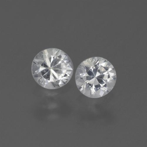 White Sapphire Gem - 0.4ct Diamond-Cut (ID: 445341)