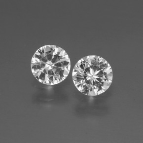 White Sapphire Gem - 0.4ct Diamond-Cut (ID: 445356)