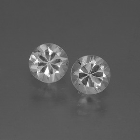 White Sapphire Gem - 0.5ct Diamond-Cut (ID: 445358)