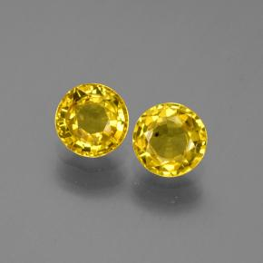 Yellow Sapphire Gem - 0.7ct Round Facet (ID: 445385)