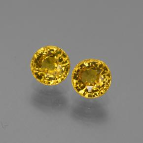 Yellow Sapphire Gem - 0.7ct Round Facet (ID: 445391)