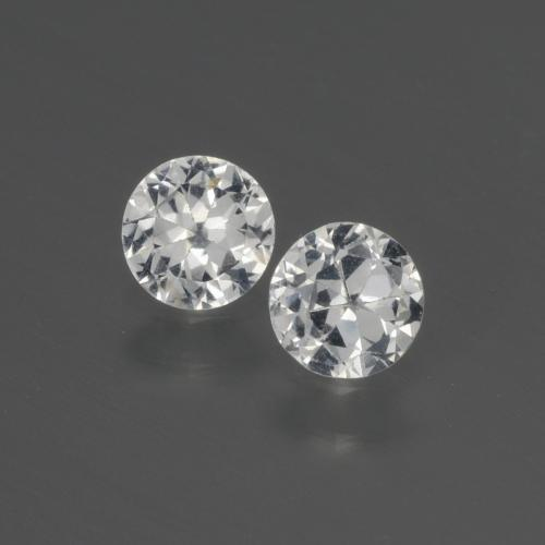 Clear White Sapphire Gem - 0.4ct Diamond-Cut (ID: 445395)