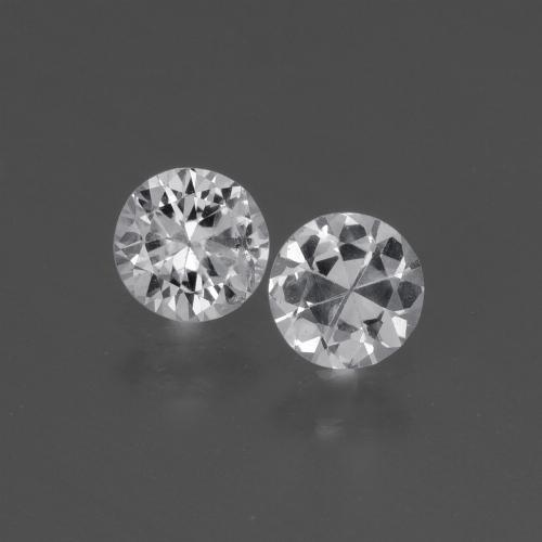 White Sapphire Gem - 0.4ct Diamond-Cut (ID: 445396)