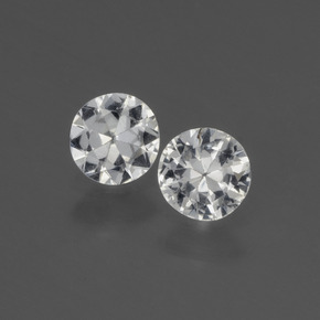 White Sapphire Gem - 0.4ct Diamond-Cut (ID: 445399)
