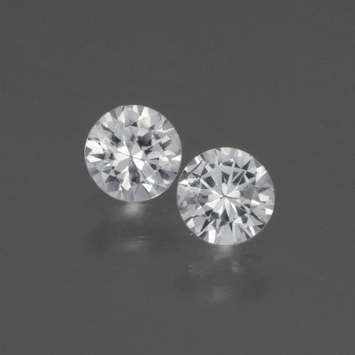 White Sapphire Gem - 0.4ct Diamond-Cut (ID: 445401)