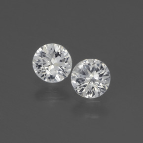 White Sapphire Gem - 0.4ct Diamond-Cut (ID: 445402)