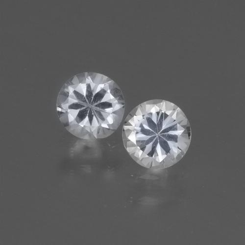 Bluish White Sapphire Gem - 0.4ct Diamond-Cut (ID: 445438)