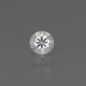 White Sapphire Gem - 0.4ct Diamond-Cut (ID: 445504)