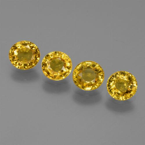 Yellow Golden Sapphire Gem - 0.6ct Round Facet (ID: 445513)