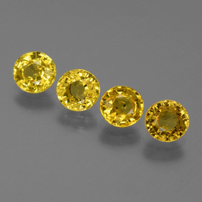 Yellow Golden Sapphire Gem - 0.6ct Round Facet (ID: 445517)