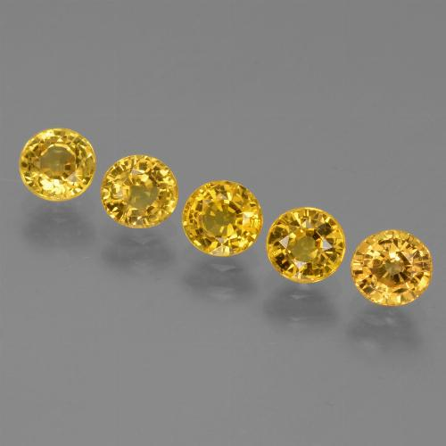 Yellow Golden Sapphire Gem - 0.6ct Round Facet (ID: 445518)